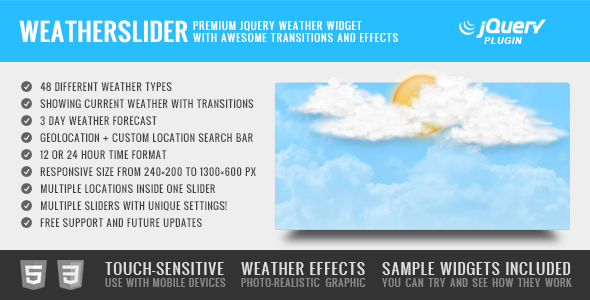 WeatherSlider - Premium jQuery Weather Widget