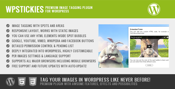 wpStickies - Premium Image Tagging Plugin for WordPress